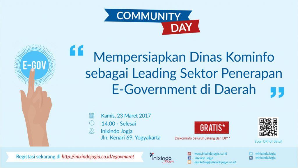 Community Day Mempersiapkan Dinas Kominfo sebagai Leading Sektor Penerapan E - Goverment di Daerah 1