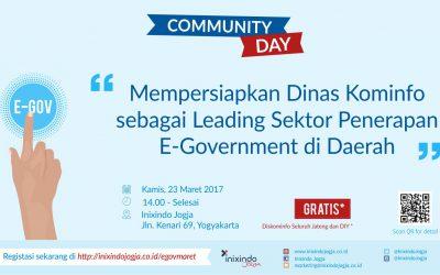 Community Day Mempersiapkan Dinas Kominfo sebagai Leading Sektor Penerapan E – Goverment di Daerah
