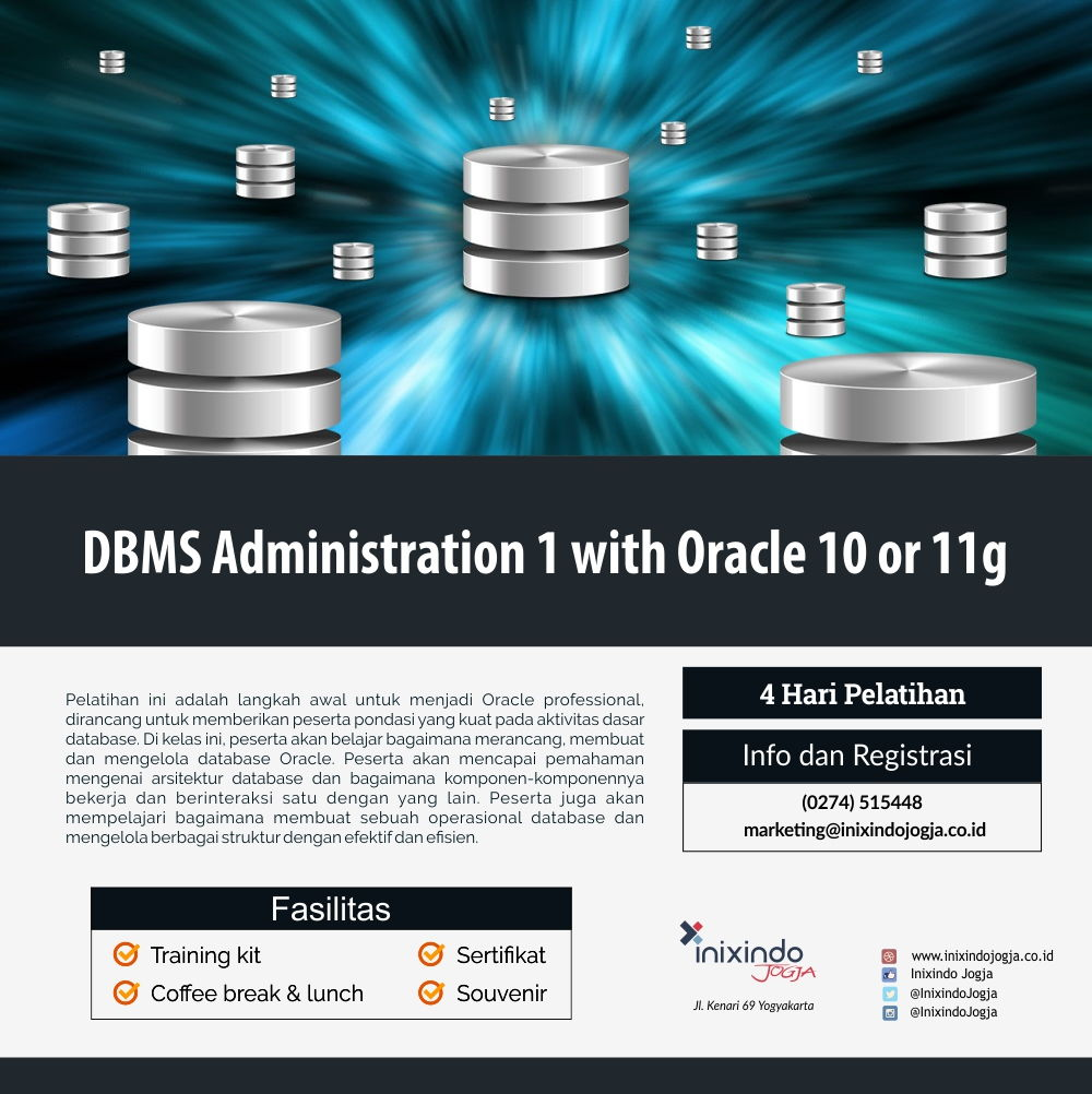 DBMS Administration I with Oracle 10g or 11g 7
