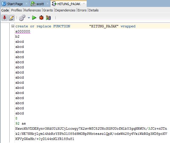 Hacking Fitur Wrap di Oracle PL/SQL 44