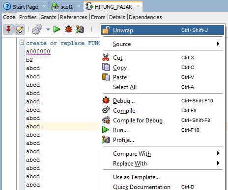 Hacking Fitur Wrap di Oracle PL/SQL 47