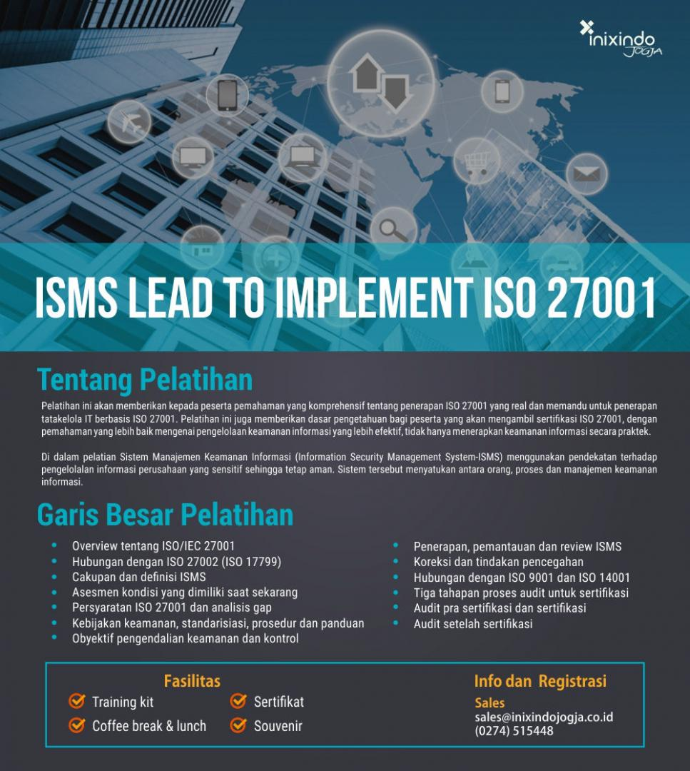 ISMS Lead To Implement ISO 27001