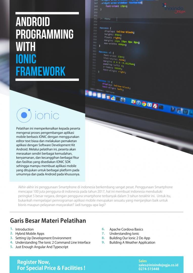 Android Programming with IONIC Framework 6