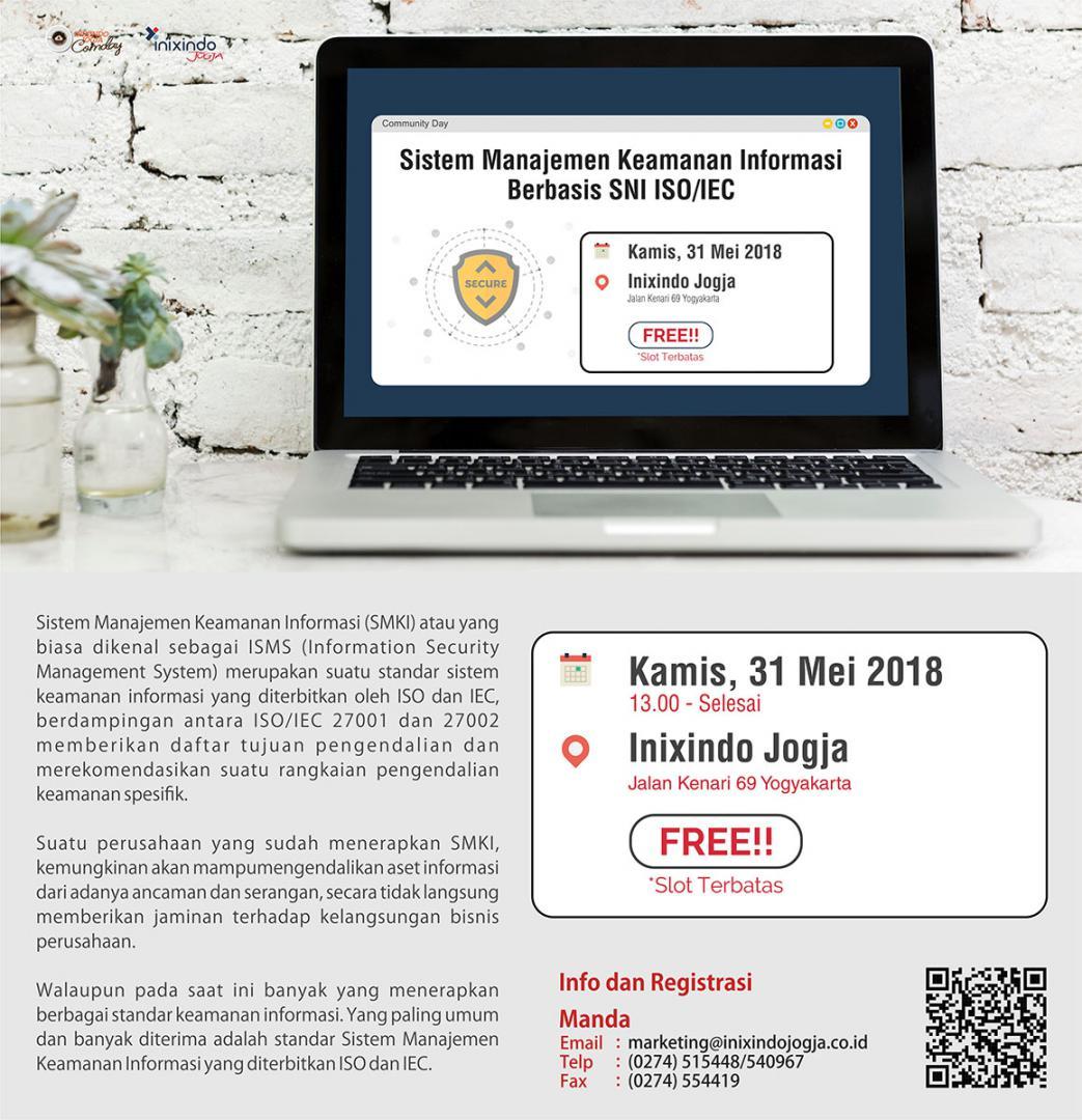 [Community Day] Sistem Manajemen Keamanan Informasi Berbasis SNI ISO/IEC 2