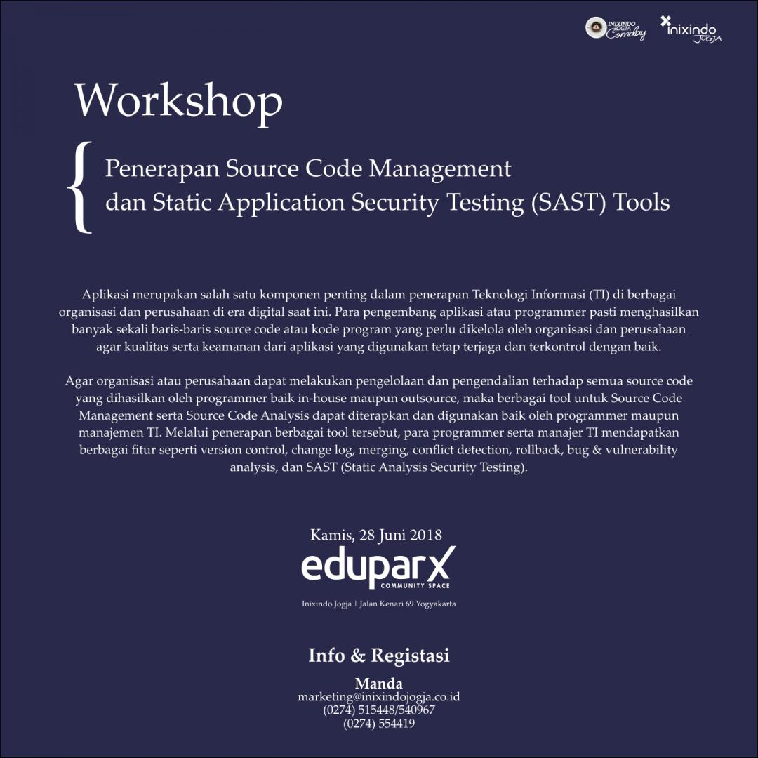[Workshop] Penerapan Source Code Management dan Static Application Security Testing (SAST) Tools 2