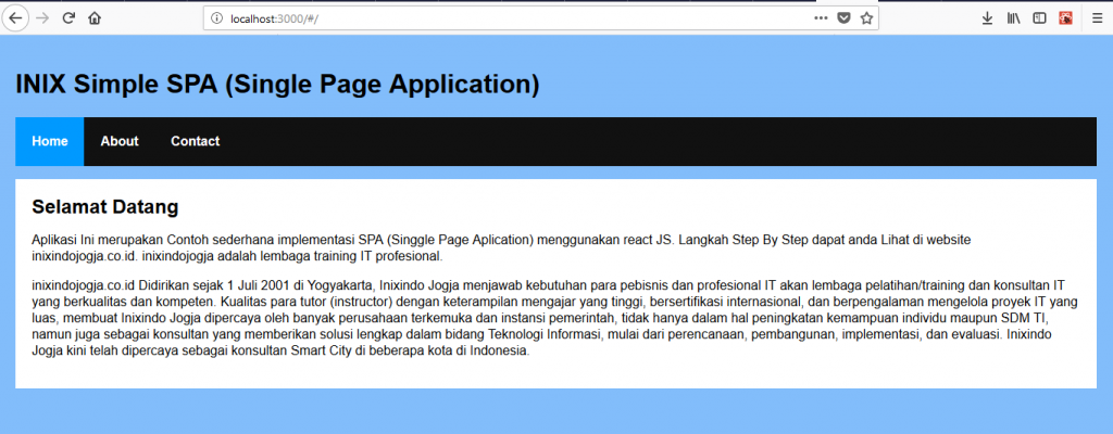Membuat Single Page Aplication Menggunakan React 8