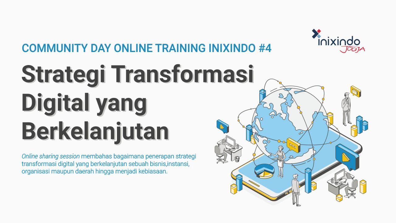 #CommunityDay Strategi Transformasi Digital yang Berkelanjutan