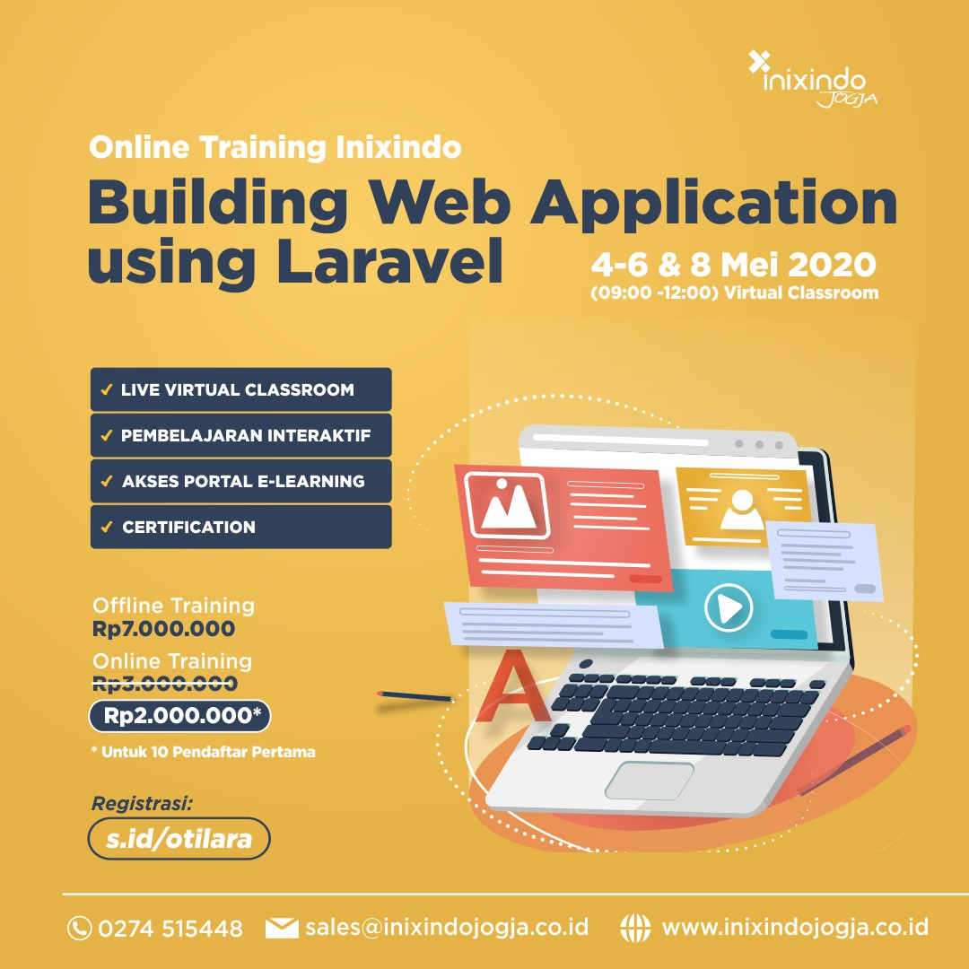 [Online Training] Building Web Application using Laravel 6