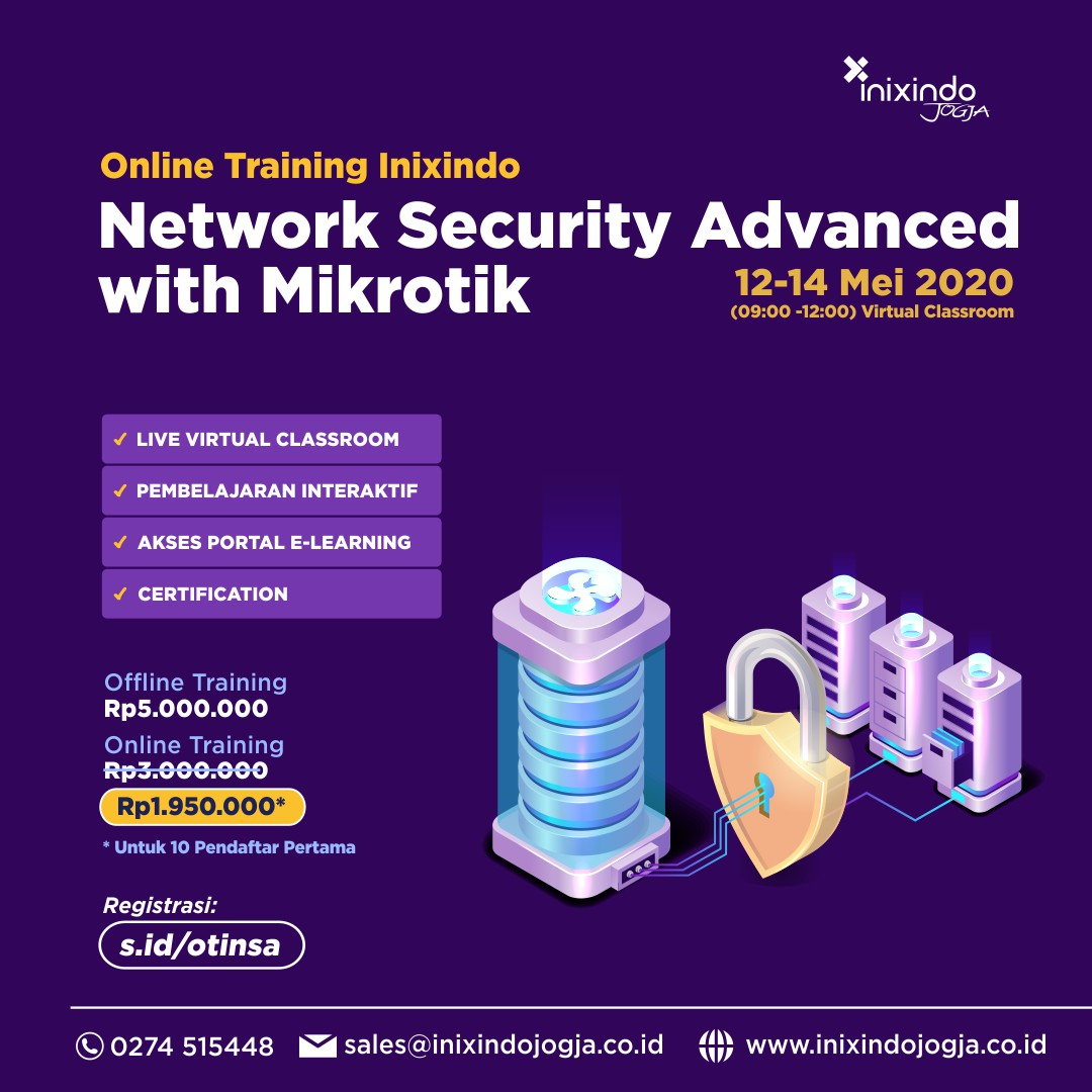 [Online Training] Network Security Advanced with MikrotiK 6