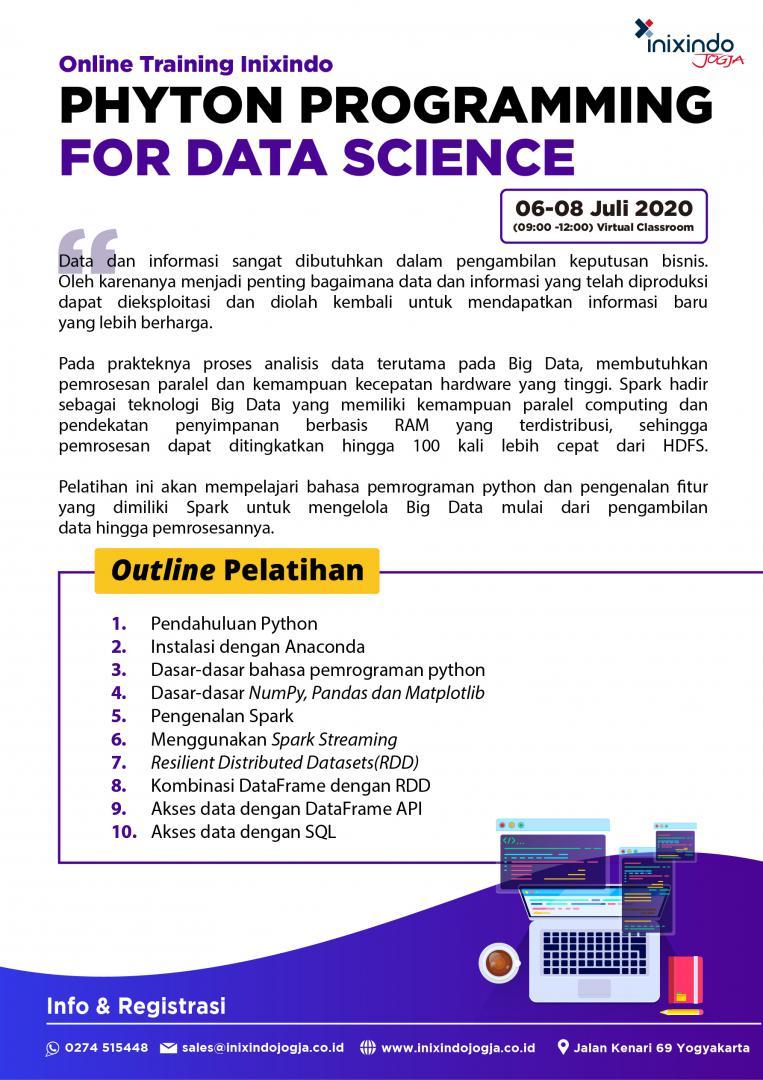 [Online Training] Phyton Programming For Data Science 6