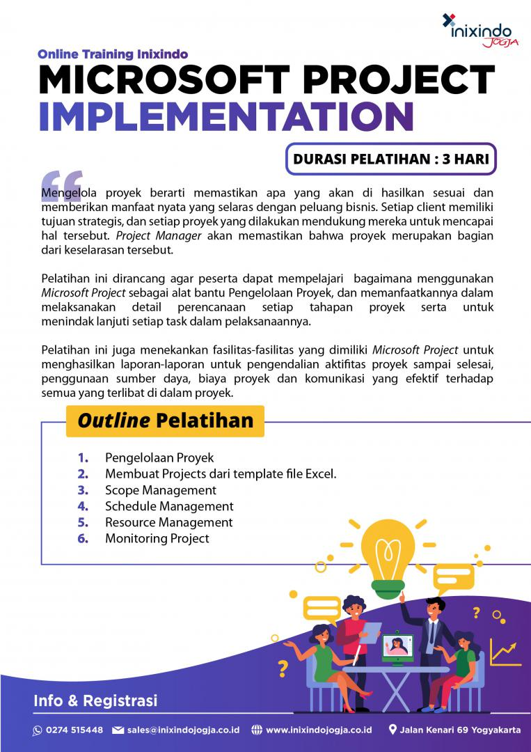 [Online Training] Microsoft Project Implementation 6