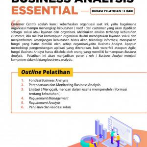 [Online Training] Business Analysis Essential 104