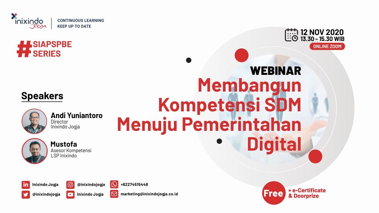 Webinar Membangun Kompetensi SDM Menuju Pemerintahan Digital 2