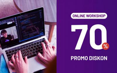 Promo Diskon 70% Workshop Online Mei