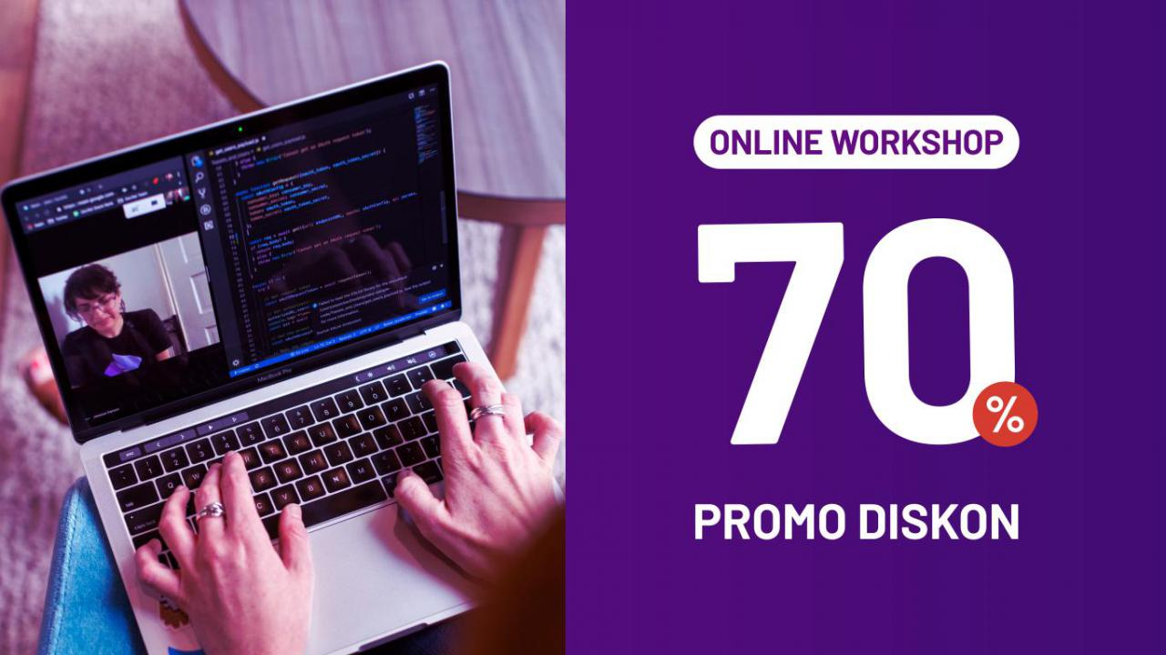 Promo Diskon 70% Workshop Online Mei 1