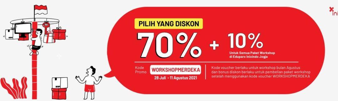 Promo Merdeka! Diskon 80% Workshop Online!
