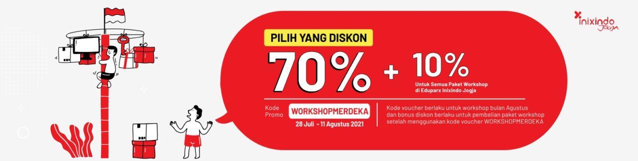 Promo Merdeka! Diskon 80% Workshop Online! 1